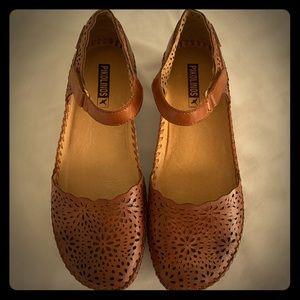 Pikolinos Leather Quarter Strap Shoes - Vallarta 8